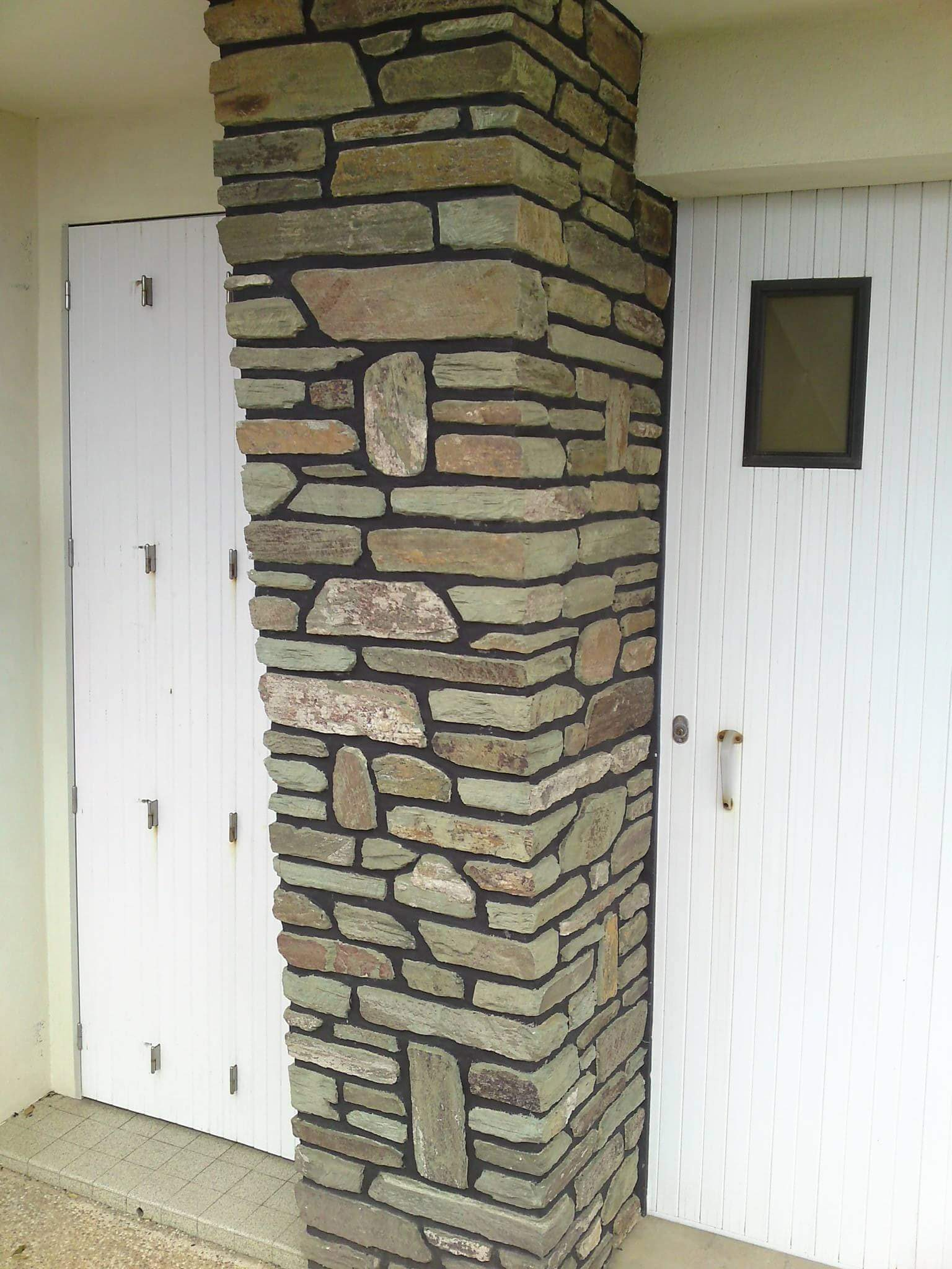 Accueil pierre et roche - Habillage colonne beton ...